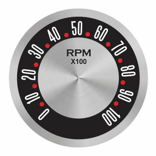 American Retro Rodder Series Tachometer Face instructions, warranty, rebate