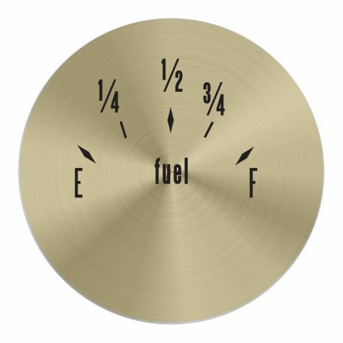 American Classic Series Fuel Level Gold Face instructions, warranty, rebate