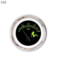 Aurora Instruments Mudflap Green//Black Fuel Level Gauge GAR271ZEXKABCC