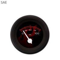 Aurora Instruments GAR186ZEXHACCD Ghost Flame Black//Red Speedometer Gauge