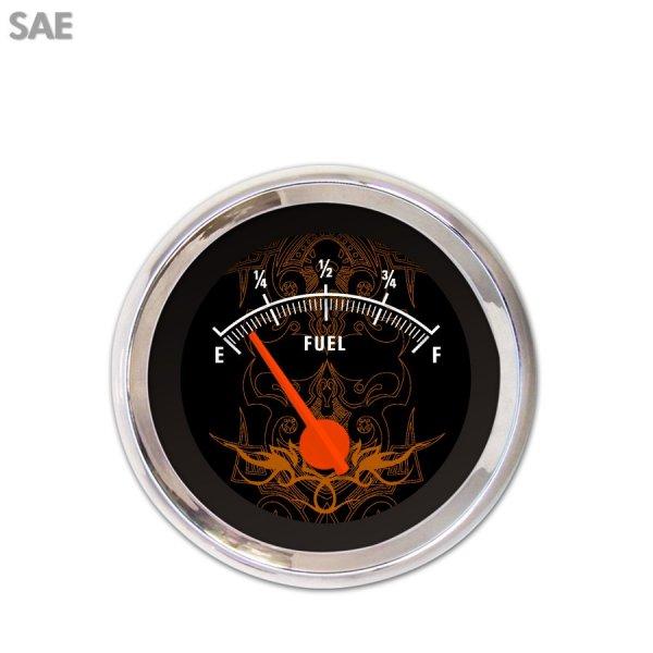 GAR293ZEXKABCH Tribal Black//Orange Fuel Level Gauge Aurora Instruments