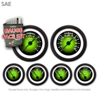 GARFM102 Pulsar Green Gauge Face Set Aurora Instruments