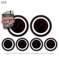 Aurora Instruments GARFE24 Pinstripe Green Gauge Face Set