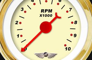 GAR120ZEXHABAH Modern Rodder White Speedometer Gauge Aurora Instruments