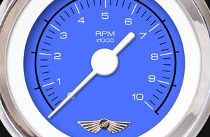 GAR132ZEAIABAD Competition Blue Tachometer Gauge Aurora Instruments